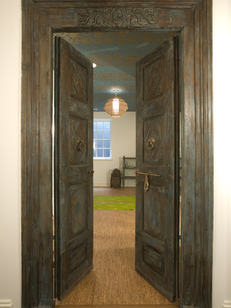 Asian Spaces Antique Doors Design, Pictures, Remodel, Decor and Ideas - Please, Come In Wooden Tropical Antique Doors...