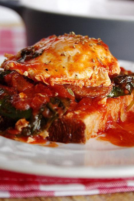 Cinco Quartos de Laranja: Tomatada com espinafres, chouriço e ovos escalfados | Foodies | Scoop.it