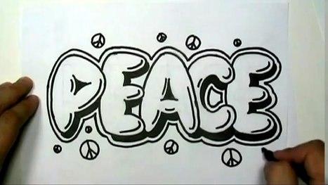 Graffiti alphabet 3d sur papier archidev how to draw peace in graffiti letters write peace in bubble letters mat expocarfo Gallery