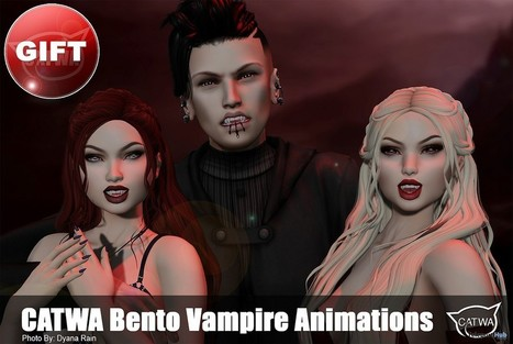 Catwa Bento Vampire Animations Subscriber Gift by CATWA | Teleport Hub - Second Life Freebies | Second Life Freebies | Scoop.it