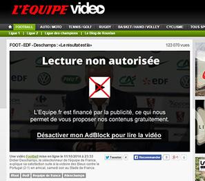 Sur TF1 et L'Equipe, le filet se resserre sur les réfractaires à la pub | DocPresseESJ | Scoop.it