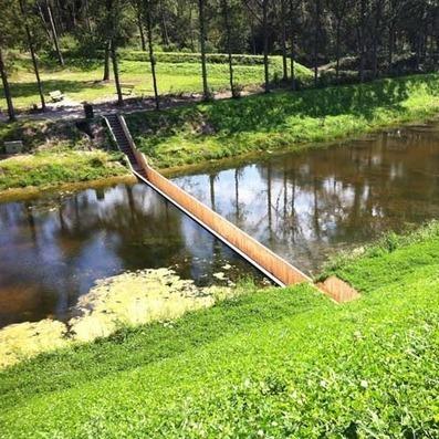 Dezeen » Sunken Bridge by RO&AD // Want this in my garden! | KiMind | Scoop.it
