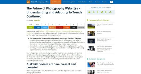 The future of Photography Websites - Understanding and adapting to trends - part 2 | iPhoneography-Today | Scoop.it