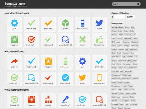 Iconsdb, des icônes aux couleurs de ton choix | Community management - médias sociaux | Scoop.it