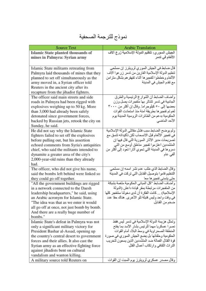Magdi Abdelwahed Enaba| نموذج للترجمة الصحفية - (PDF) (EN) (AR) | Glossarissimo! | Scoop.it