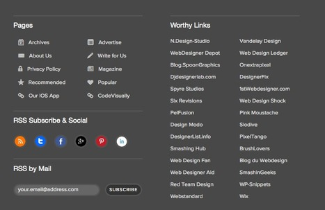 Functional Footer Design: 8 Improvements for Ordinary Footers | Digital-News on Scoop.it today | Scoop.it
