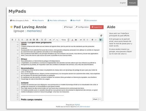 MyPads: l'alternative de Framasoft à Google Docs   Time to Learn   Scoop.it