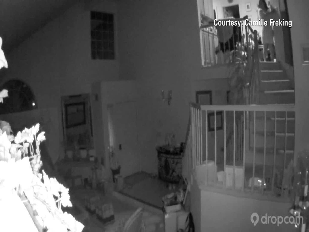 Moment California Quake Hits On Home Security C