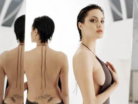 Angelina jolie boob size mine the