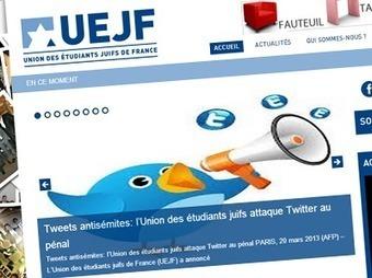 L'UEJF vise-t-elle sur Twitter des auteurs de messages non antisémites ? | Libertés Numériques | Scoop.it
