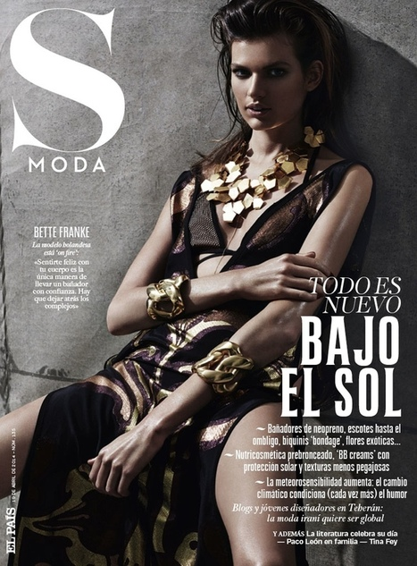 Bette Franke is a Metallic Goddess for S Moda Spread by David Roemer   TAFT: Trends And Fashion Timeline   Scoop.it