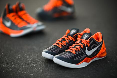 sports shoes 3755a 5a457 Cheap Nike Zoom Kobe 8 BHM Orange Black History Month 2013 for Sale