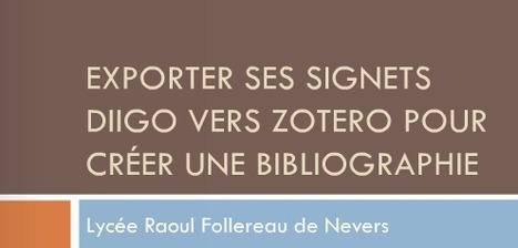 Exporter ses signets Diigo vers Zotero | Zotero | Scoop.it