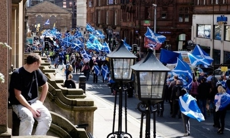 Scottish independence-backers stage Glasgow march - Scotsman | My Scotland | Scoop.it