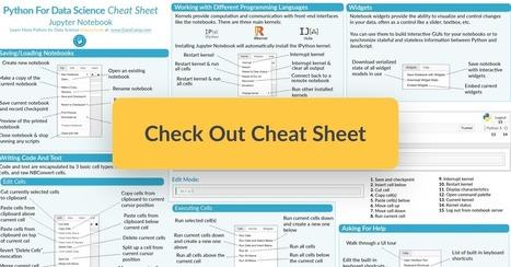Jupyter Notebook Cheat Sheet, By Karlijn Willem