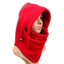 f2e0db558eddc Eforstore 6 in 1 Thermal Fleece Balaclava Hat Hood Police Swat Ski Bike  Wind Stopper Face Mask New Caps Neck Warmer (Red) Clothing Discounts