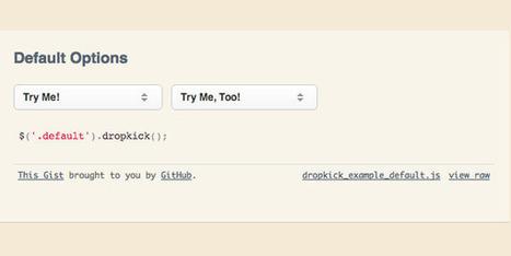 Styling Dark Select Dropdown With Dropkick.js | Webdesigntuts+ | All Javascript | Scoop.it