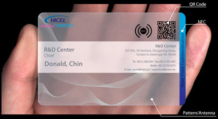 Qr Code Carte Visite 7 Hicel Launches NFC Business Cards