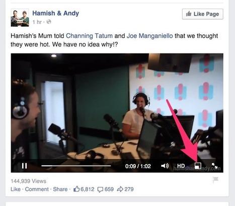 Facebook teste la vidéo flottante qui reste toujours visible - #Arobasenet.com | Le Social Media par ChanPerco | Scoop.it