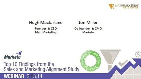 Top 10 Findings: How to Align Sales & Marketing | Marketing and Advertising Research Articles and Items of Interest | Scoop.it