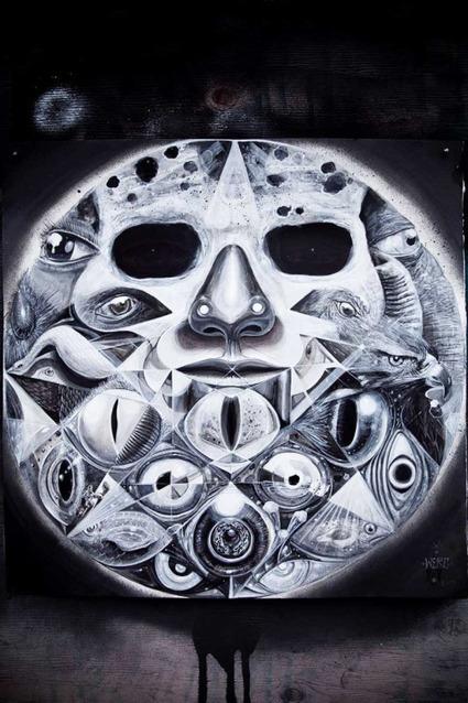 Shamanic Street Art by WercJari Werc Alvarez was born in Ciudad... - mdolla   World of Street & Outdoor Arts   Scoop.it