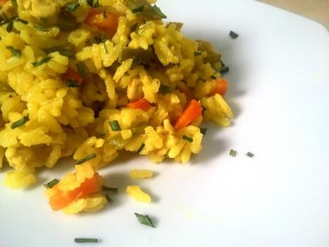 Turkey and Chicken rice with Saffron - À Catanada na Cozinha | À Catanada na Cozinha Magazine | Scoop.it