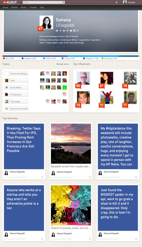 A Redesigned Klout Profile and All Your Perks in One Place   Time to Learn   Scoop.it
