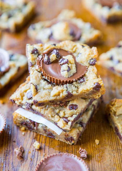 #GuiltFree // Two-Ingredient Peanut Butter Cup Chocolate Chip Cookie Dough Bars | The Man With The Golden Tongs Goes All Out On Health | Scoop.it