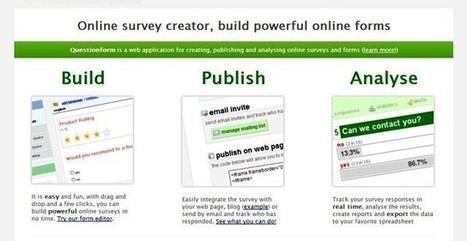 QuestionForm, crea encuestas gratis para tu web o blog | Aplicaciones y Herramientas . Software de Diseño | Scoop.it
