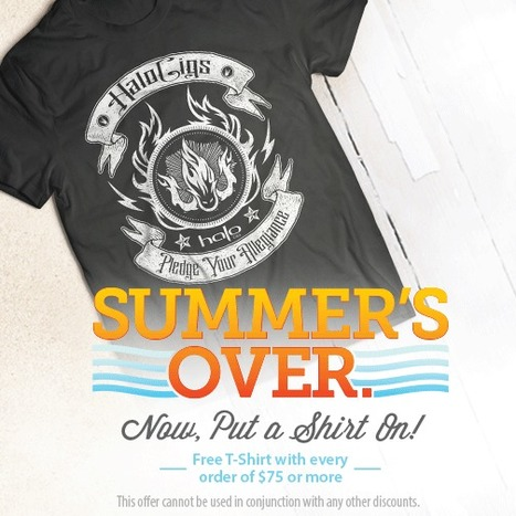 FREE T-Shirt with any order of $75 or more | E-Cigarettes | Halo Cigs | Scoop.it