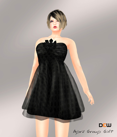Black Dress April 2013 Group Gift by DEW | Teleport Hub | Second Life Freebies | Scoop.it