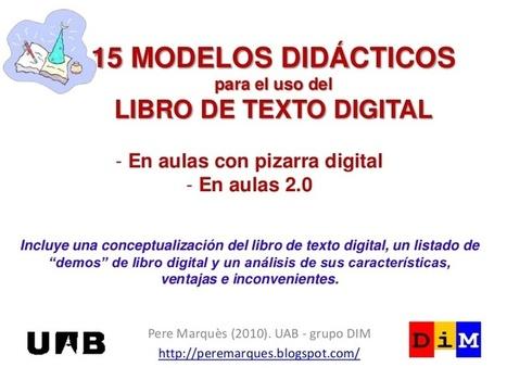 13 modelos didácticos de uso de los libros de texto digitales | Investigación en educación matemática | Scoop.it