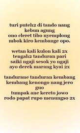 Teks Lirik Sholawat Turi Putih Muslim Fiqih