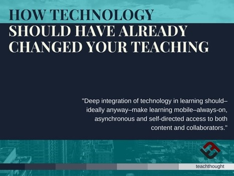How Technology Should Have Already Changed Your Teaching | Edulateral | Scoop.it