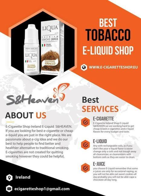 Best Tobacco E-Liquid Shop   Best E-Cig in Irel