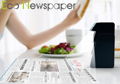Eco-newspaper – Newspaper Projector by Shen Guo » Yanko Design | design and advertising | Scoop.it