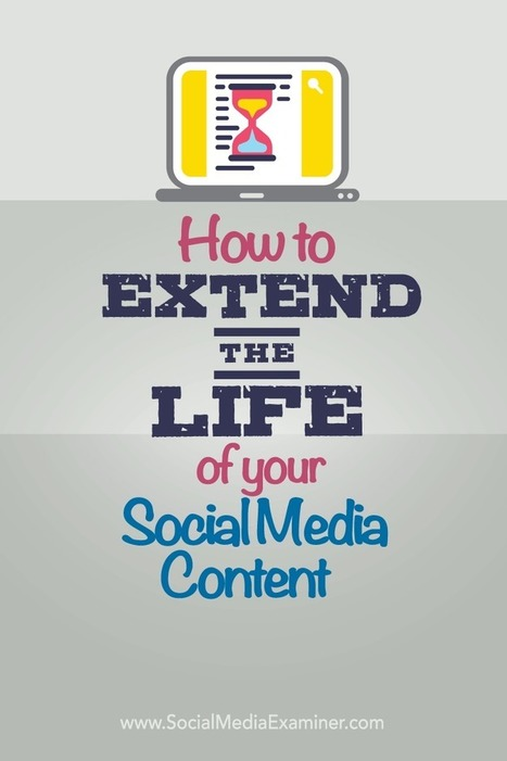 How to Extend the Life of Your Content on Social Media | Social Media Publishing and Curation | Scoop.it