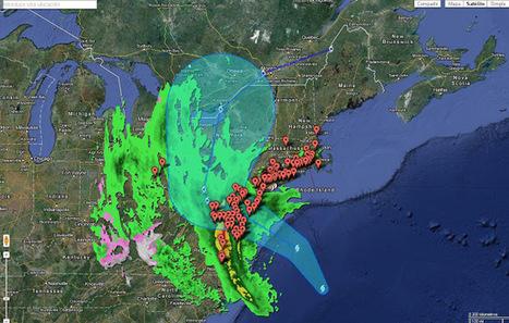 Geoinformación: Huracán Sandy en Google Maps (Google Crisis Response) y en Google Earth | #GoogleEarth | Scoop.it