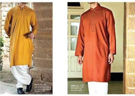 Gents Dresses Eid Kurta by Shalwar Set 2014-15