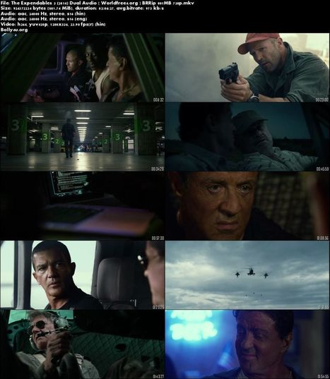 The Expendables 3 (2014) BRRip 850Mb Hindi 720p