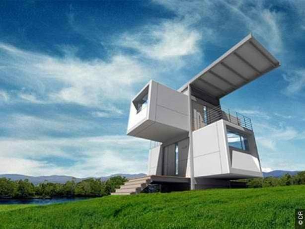 Tendance immobilier la maison container d ea Immeuble container