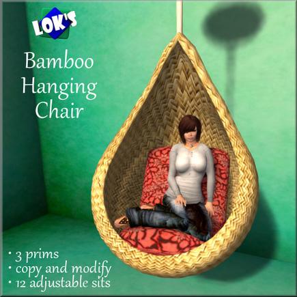 Loku0027s Bamboo Hanging Chair