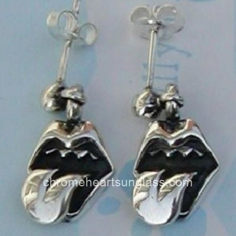 f934511a3a1 Chrome Hearts Earring with Lip Tongue Stud Bolt Pierced Shop Online  Chrome  Hearts Earrings  -  128.00   Chrome Hearts Sunglasses