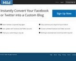 Mild. Un blog avec vos flux Twitter et Facebook. | Les outils du Web 2.0 | Scoop.it