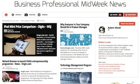 Oct 24 - Business Professional MidWeek News is out | Transformations in Business & Tourism | Scoop.it