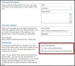 SharePoint 2010 Permissions for Site Owners – Part 1 : Creating a Team Site | All About SharePoint | Scoop.it