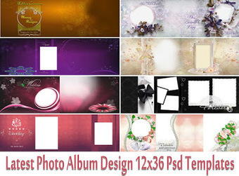 Latest Photo Album Design 12x36 Psd Templates