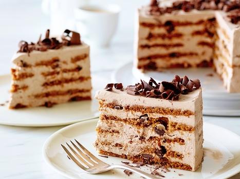 Mocha Chocolate Icebox Cake Recipe : Ina Garten : Food Network | The Chic Chocolate Curator | Scoop.it