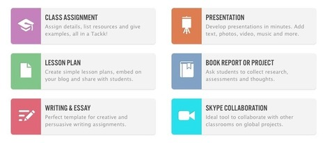 Free Technology for Teachers: Tackk - Create Webpages for Announcements, Assignments, and Digital Portfolios | Social Entrepreneur | Scoop.it