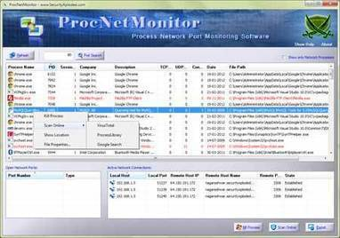ProcNetMonitor : Free Process Network Port Monitoring Tool | CyberSecurity | ICT Security Tools | Scoop.it